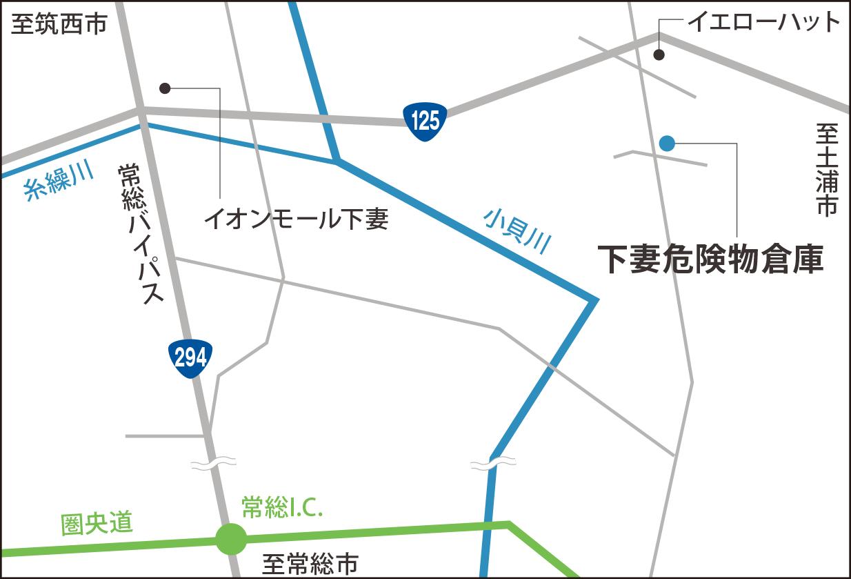 地図_下妻危険物倉庫